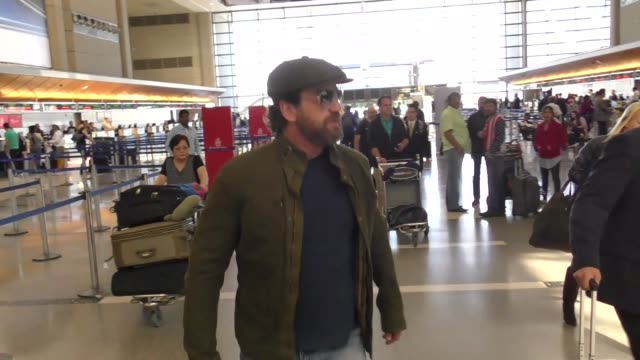 Gerard Butler at Los Angeles International Airport at Celebrity Sightings in Los Angeles on March 31 2017 in Los Angeles California