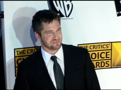 Gerard Butler at the 2005 Critics' Choice Awards at the Wiltern Theater in Los Angeles California on January 10 2005