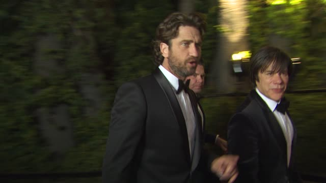 Gerard Butler at the 2011 Vanity Fair Oscar Party Arrivals at Hollywood CA