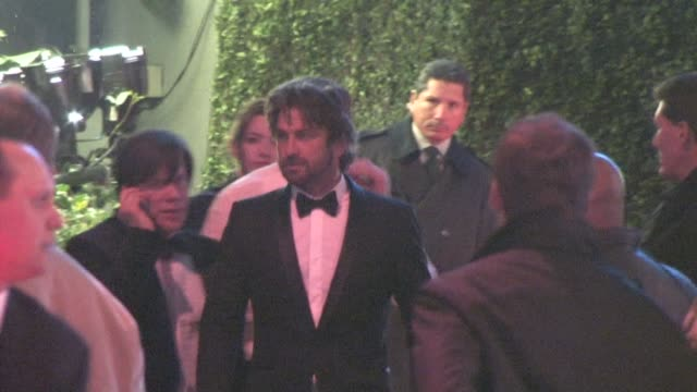 Gerard Butler at the 2011 Vanity Fair Oscar Party at Sunset Tower in West Hollywood at the Celebrity Sightings in Los Angeles at Los Angeles CA