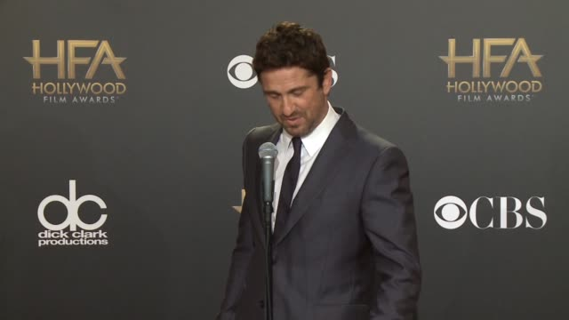 SPEECH Gerard Butler at The 2014 Hollywood Film Awards in Los Angeles CA