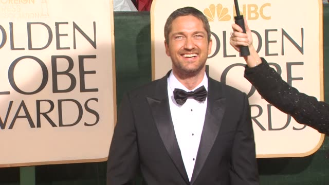 Gerard Butler at the 67th Annual Golden Globe Awards Arrivals Part 5 at Beverly Hills CA