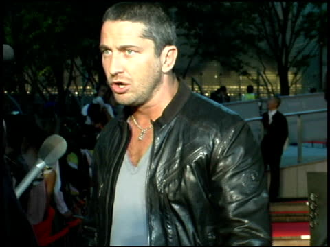Gerard Butler at the 'Batman Begins' Press Conference and Premiere at Roppongi Hills in Tokyo on May 31 2005