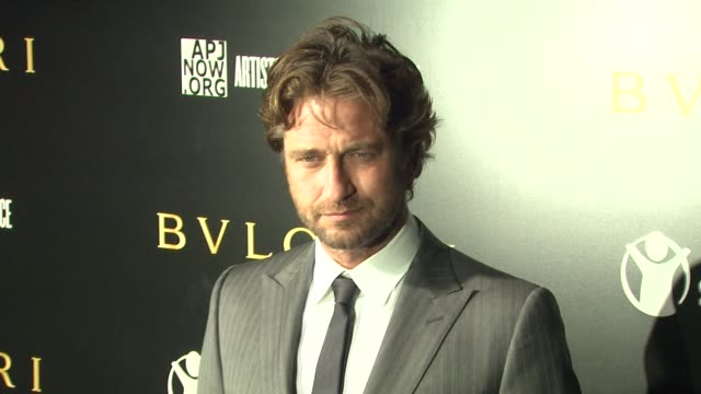 Gerard Butler at the Bulgari Fundraiser Benefitting Save The Children And Artists For Peace Justice at Beverly Hills CA