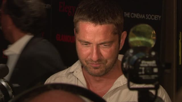Gerard Butler at the Cinema Society Presents Screening of 'Elegy' at New York NY