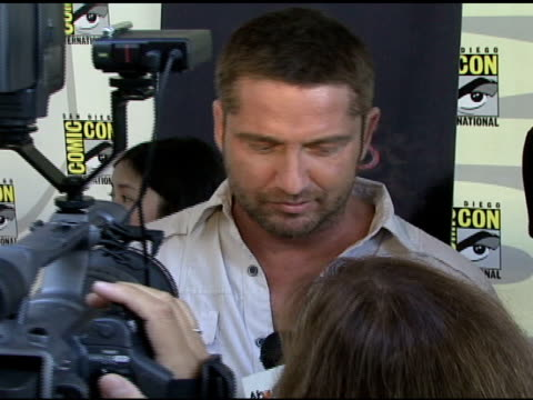 Gerard Butler at the ComicCon 2008 at San Diego CA