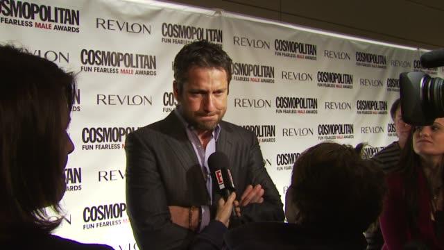 Gerard Butler at the Cosmopolitan Magazine's Fun Fearless Males Of 2010 at New York NY