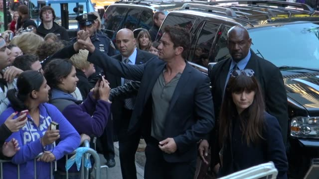 Gerard Butler at the 'Good Morning America' studio in New York NY on 10/22/12