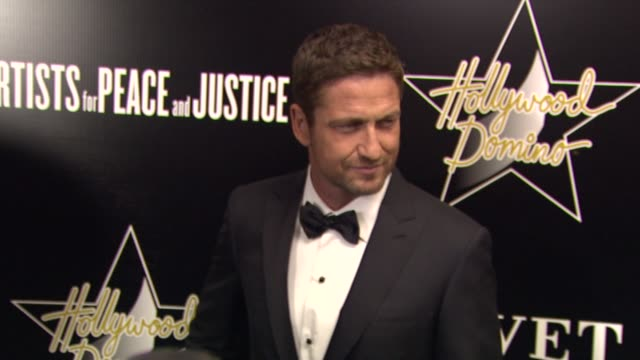 Gerard Butler at the Hollywood Domino Bovet 1822 Gala Benefiting Artists For Peace And Justice on 2/21/13 in West Hollywood CA on 2/21/13 in West...