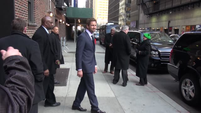 Gerard Butler at the 'Late Show with David Letterman' studio in New York NY on 3/14/13