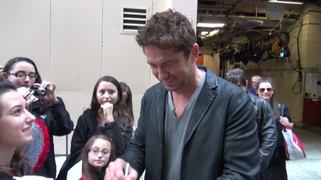 Gerard Butler at the 'LIVE with Kelly and Michael' studio in New York NY on 10/23/12