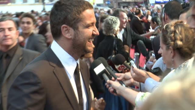 Gerard Butler at the London RocknRolla world premiere at London