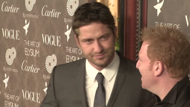 Gerard Butler at the The Art of Elysium's 2nd Annual Black Tie Charity Gala 'Heaven' at Los Angeles CA