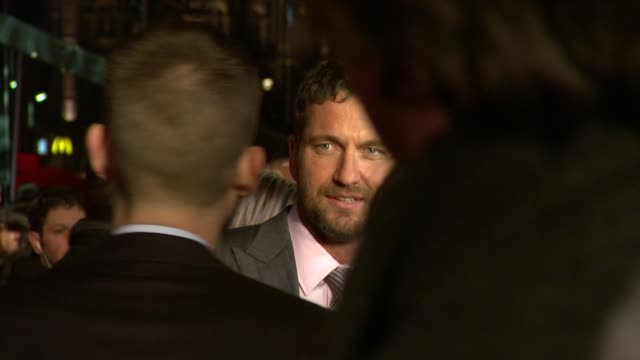 Gerard Butler at the The Bounty Hunter Premiere at London England