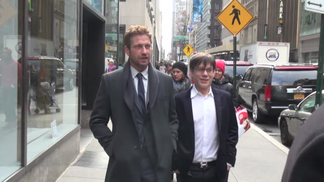 Gerard Butler at the 'TODAY' show studio in New York NY on 3/14/13