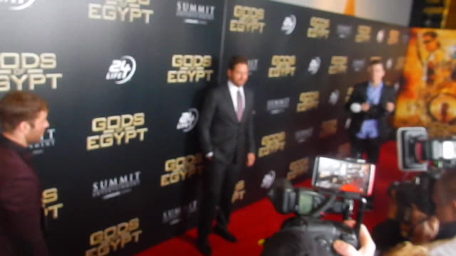 gerard butler attends the 'gods of egypt' new york premiere at amc loews lincoln square 13 on february 24 2016 in new york city - amc loews stock videos and b-roll footage