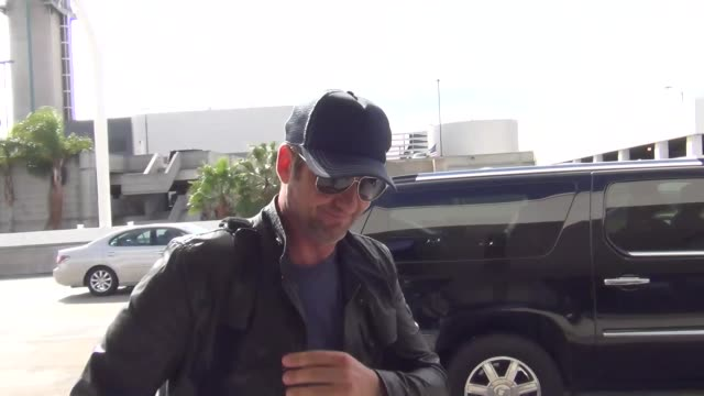 Gerard Butler departing at LAX Airport in Los Angeles in Celebrity Sightings in Los Angeles
