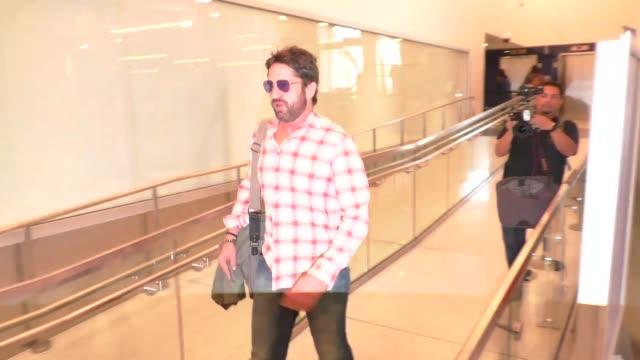 Gerard Butler departing at LAX Airport in Los Angeles in Celebrity Sightings in Los Angeles