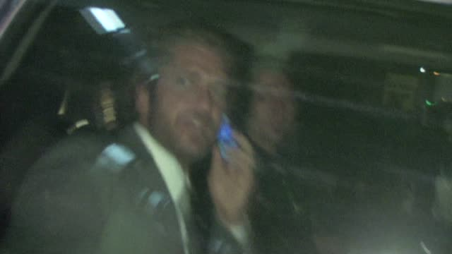 Gerard Butler leaving Academy of Television Arts Sciences in North Hollywood
