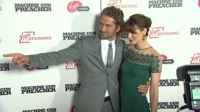 Gerard Butler Michelle Monaghan at the 'Machine Gun Preacher' Premiere at Beverly Hills CA