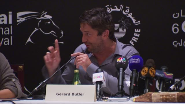 Gerard Butler on a reporter's view that tabloids say that he's not a good actor on thanking the reporter on the fact that people have different...