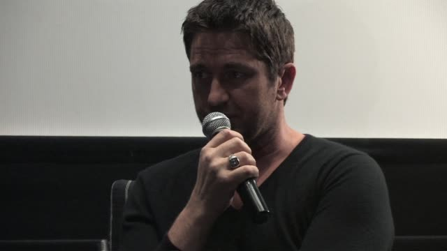 Gerard Butler on acting and producing a movies at the Law Abiding Citizen Press Conference at London England