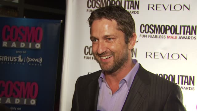 Gerard Butler on being honored tonight and what it means to be a fun fearless male On his most recent fearless moment trading characters in a film...