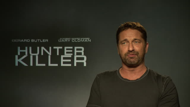 INTERVIEW Gerard Butler on being more aware of the world problems at 'Hunter Killer' interview at on October 5 2018 in London England