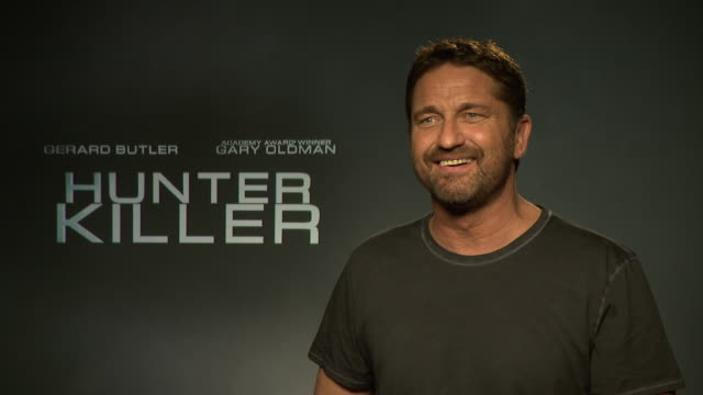 INTERVIEW Gerard Butler on doing press tours at 'Hunter Killer' interview at on October 5 2018 in London England