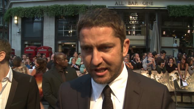 Gerard Butler on getting a buzz with girls screaming at him his thoughts on working back in London on working with Thandie Newton on working with Guy...