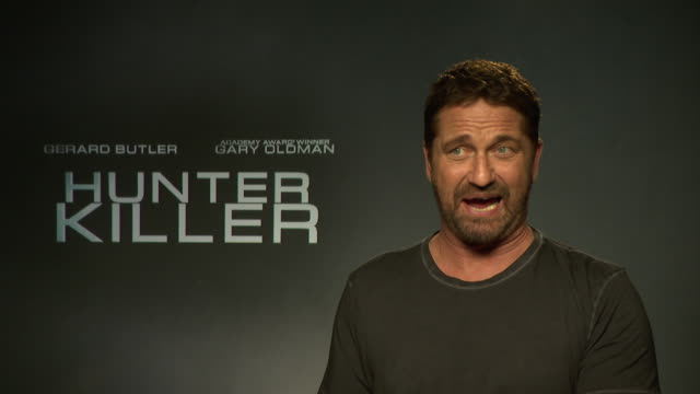INTERVIEW Gerard Butler on his experience being on captaining a nuclear submarine at 'Hunter Killer' interview at on October 5 2018 in London England