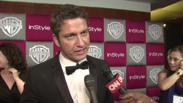 Gerard Butler on his favorite parts of the evening Mickey Rourke winning and Slumdog Millionaire winning at the InStyle 2009 Golden Globes After...