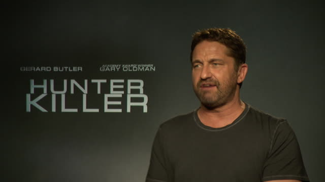 INTERVIEW Gerard Butler on his routines before he does a filming job at 'Hunter Killer' interview at on October 5 2018 in London England