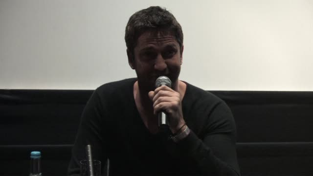 Gerard Butler on how he doesn't read gossip about himself at the Law Abiding Citizen Press Conference at London England