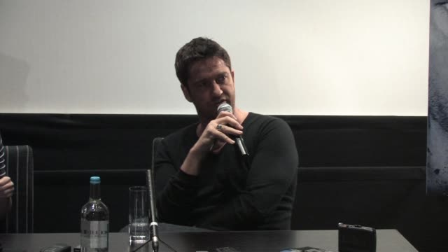 Gerard Butler on how he was going to play the role Jamie Fox now plays in the movie at the Law Abiding Citizen Press Conference at London England