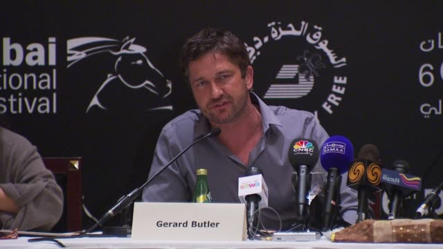 Gerard Butler on how he went from studying as a lawyer to becoming an actor on how he tries to see if the translator can keep up with him while...