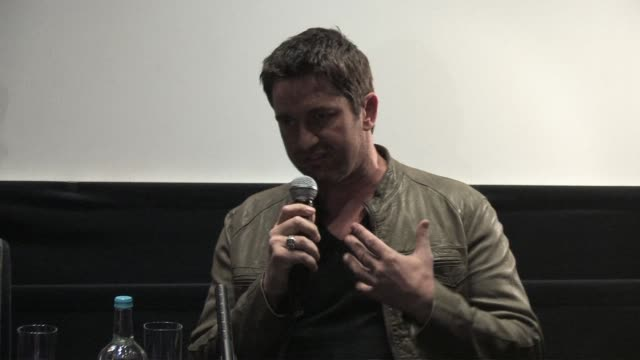 Gerard Butler on how the characters story was referenced to real life stories at the Law Abiding Citizen Press Conference at London England