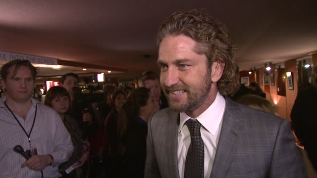 Gerard Butler on playing action roles his surfing accident for his up and coming film 'Of Men and Mavericks' at Coriolanus Special Screening at The...