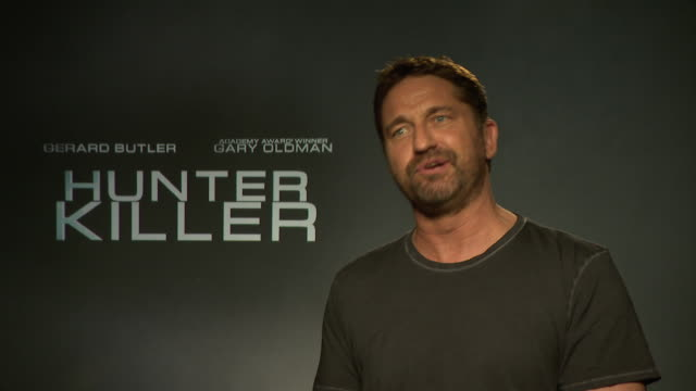 INTERVIEW Gerard Butler on the film at 'Hunter Killer' interview at on October 5 2018 in London England