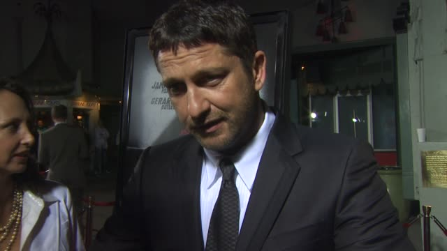 Gerard Butler on the film on his character and on being at the premiere at the 'Law Abiding Citizen' Screening at Hollywood CA
