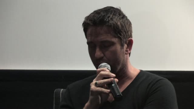 Gerard Butler on the message of the movie at the Law Abiding Citizen Press Conference at London England