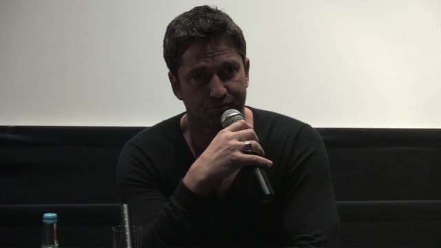 Gerard Butler on the movies violence and a scene cut from the final cut depicting this at the Law Abiding Citizen Press Conference at London England