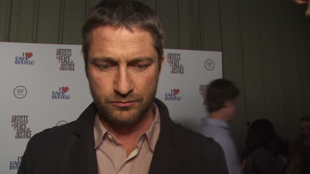 Gerard Butler on what stood out about Artists for Peace and Justice compared to other charities on how effective relief efforts have been so far and...
