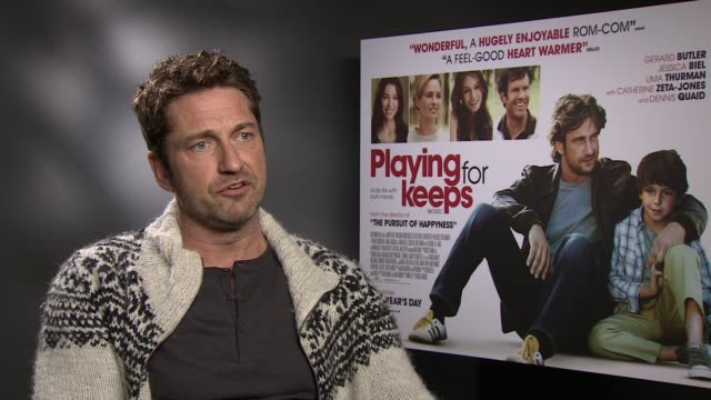 INTERVIEW Gerard Butler on why he took the role the character an interesting year for him and on David Beckham at the 'Playing For Keeps' Gerard...