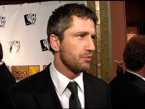 Gerard Butler on working on 'Phantom of the Opera' and on 'Phantom' as a film at the 2005 Critics' Choice Awards Interviews at the Wiltern Theater in...