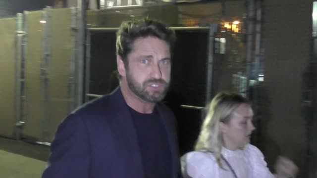 Gerard Butler outside Jimmy Kimmel Live in Hollywood in Celebrity Sightings in Los Angeles