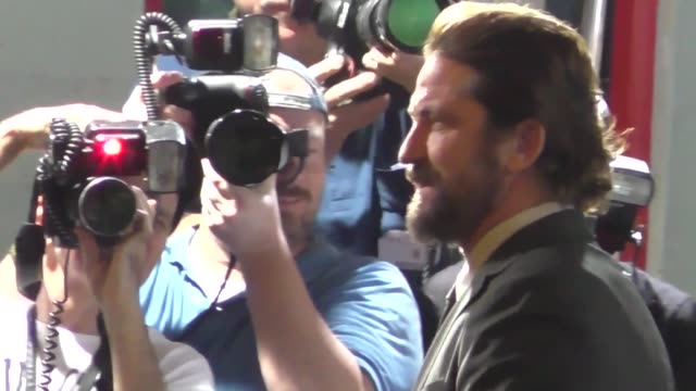 Gerard Butler outside the Geostorm Premiere at TCL Chinese Theatre in Hollywood in Celebrity Sightings in Los Angeles