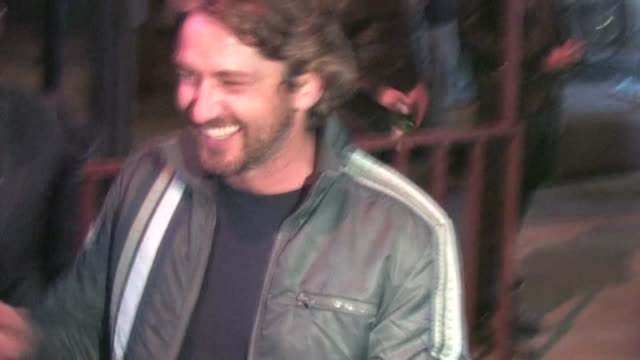 Gerard Butler signs at District in Hollywood at the Celebrity Sightings in Los Angeles at Los Angeles CA