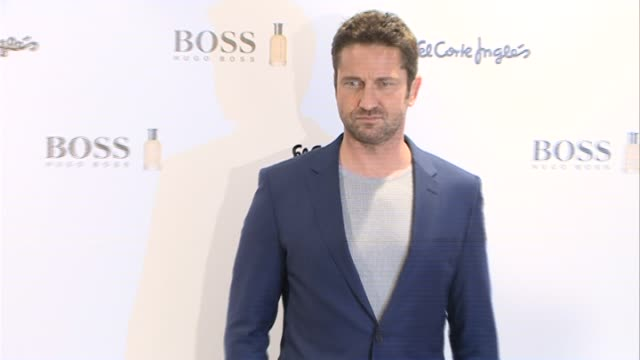 Gerard Butler Signs Boss Bottled Fragrances at El Corte Ingles Store in Madrid