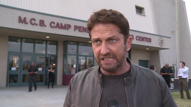 INTERVIEW Gerard Butler talks about how it feels to visit troops here on the cast of the movie on not wanting to make it unless they were going to...